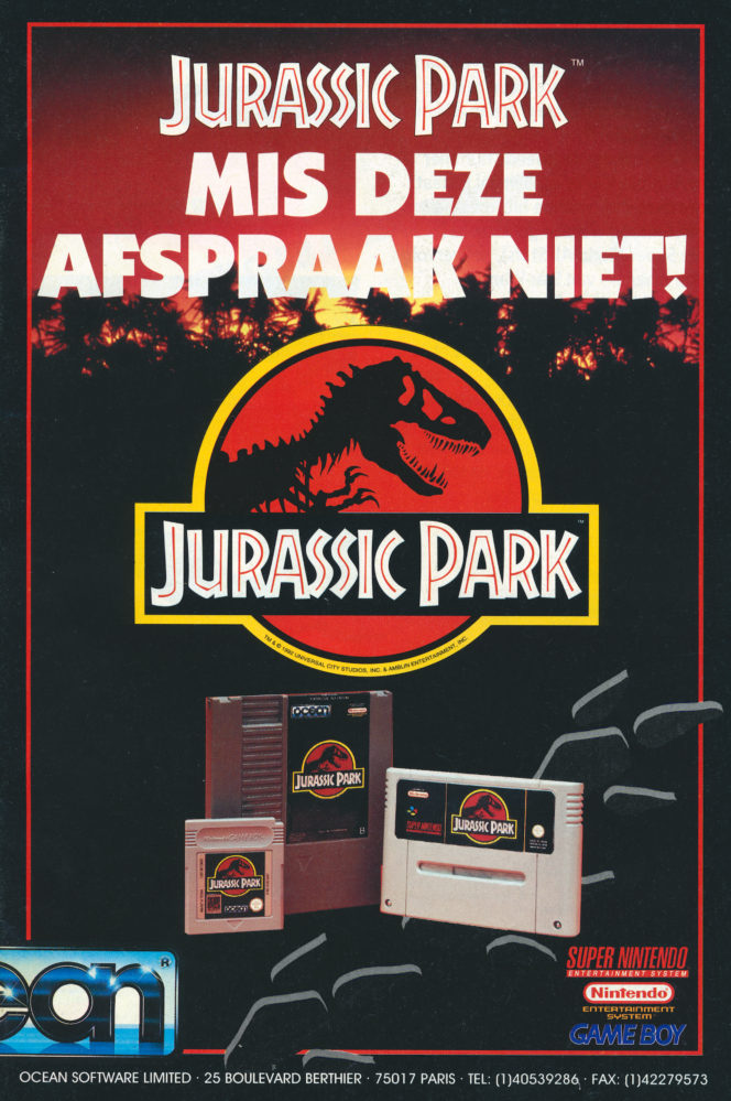 Jurassic Park Advertentie - oktober-november 1993